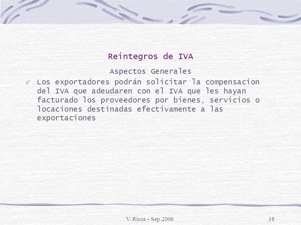 V. Ricca - Sep.200637 Contratos de Exportación Llave en Mano Normativa Ley 23101 Articulo 14 Decreto 525\85