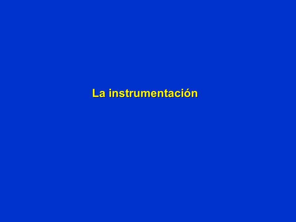 La instrumentación