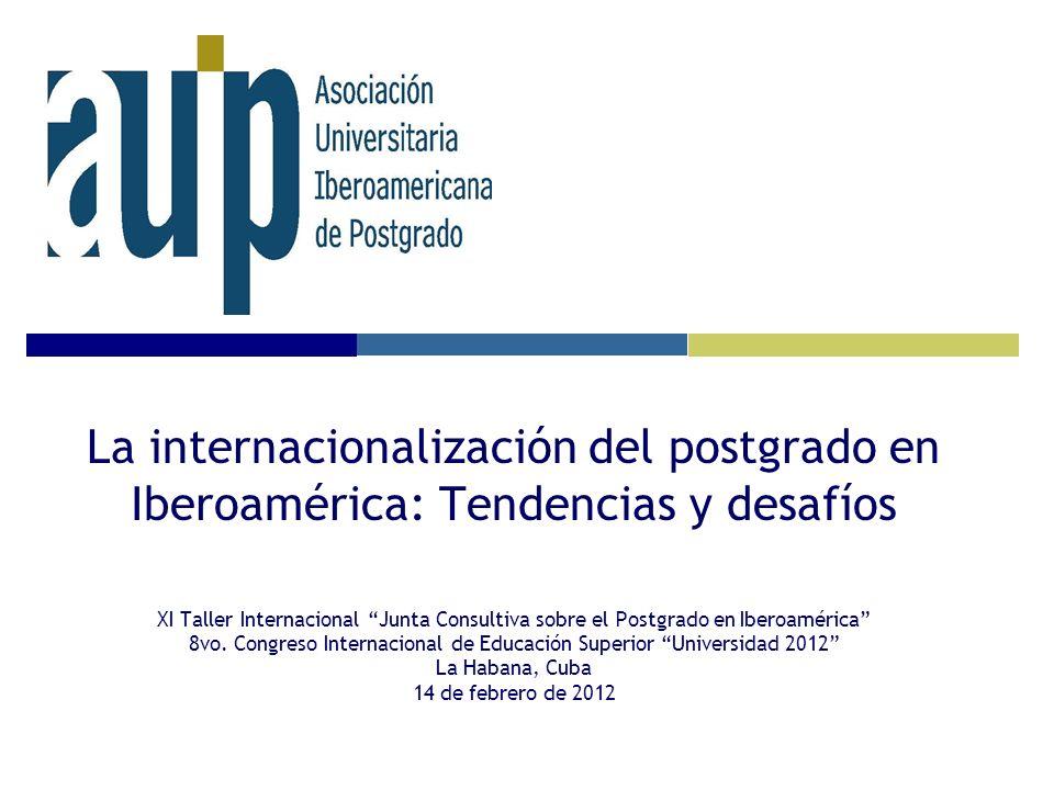 La internacionalización del postgrado en Iberoamérica: Tendencias y desafíos XI Taller Internacional Junta Consultiva sobre el Postgrado en Iberoaméri