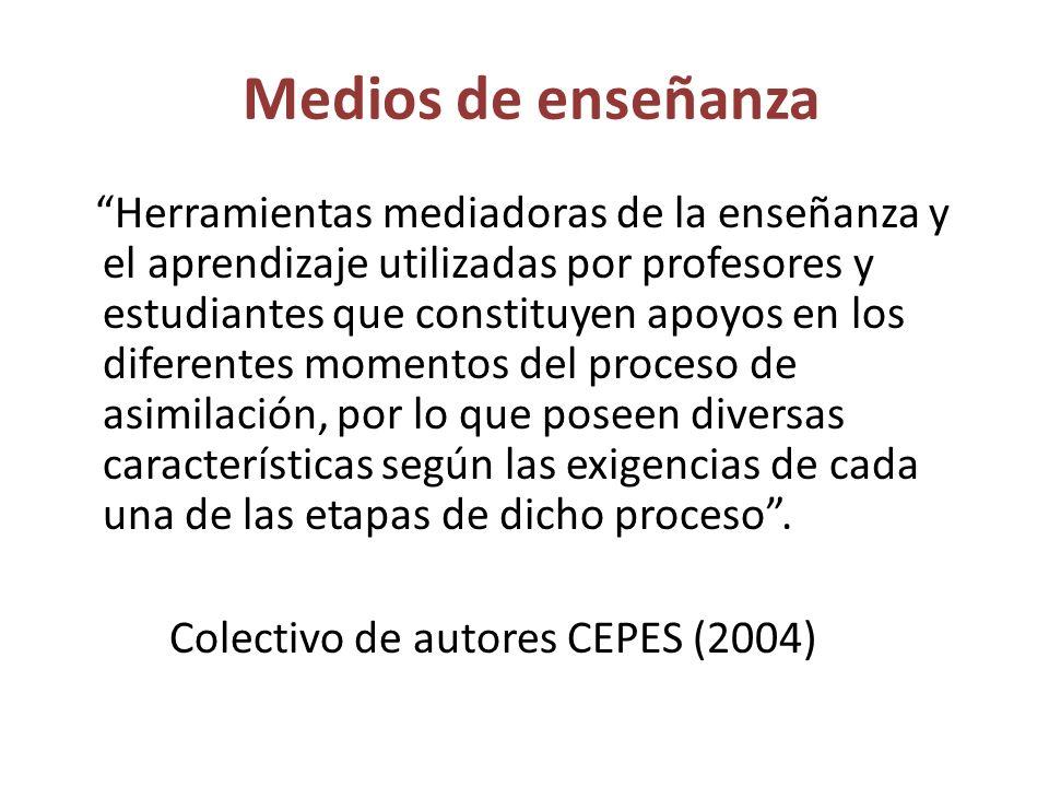 FUNCIONES DE LOS MEDIOS DE ENSEÑANZA Favorecer en los estudiantes la formación de la concepción materialista el mundo.