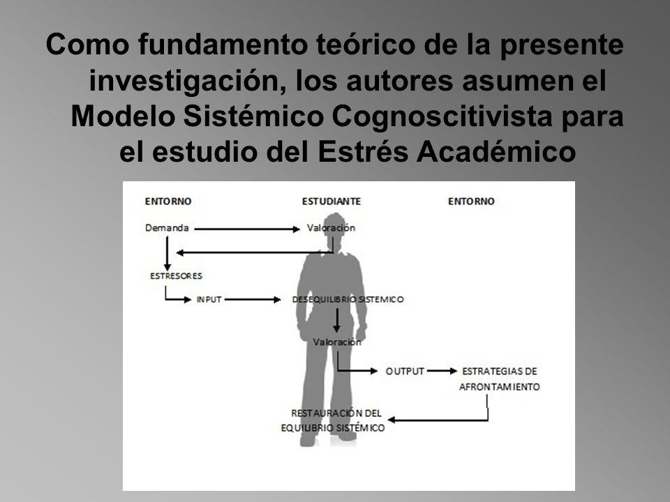 Como fundamento teórico de la presente investigación, los autores asumen el Modelo Sistémico Cognoscitivista para el estudio del Estrés Académico