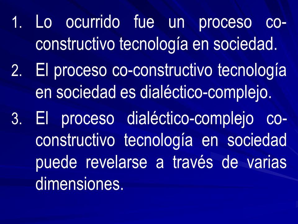 1. 1. Lo ocurrido fue un proceso co- constructivo tecnología en sociedad.