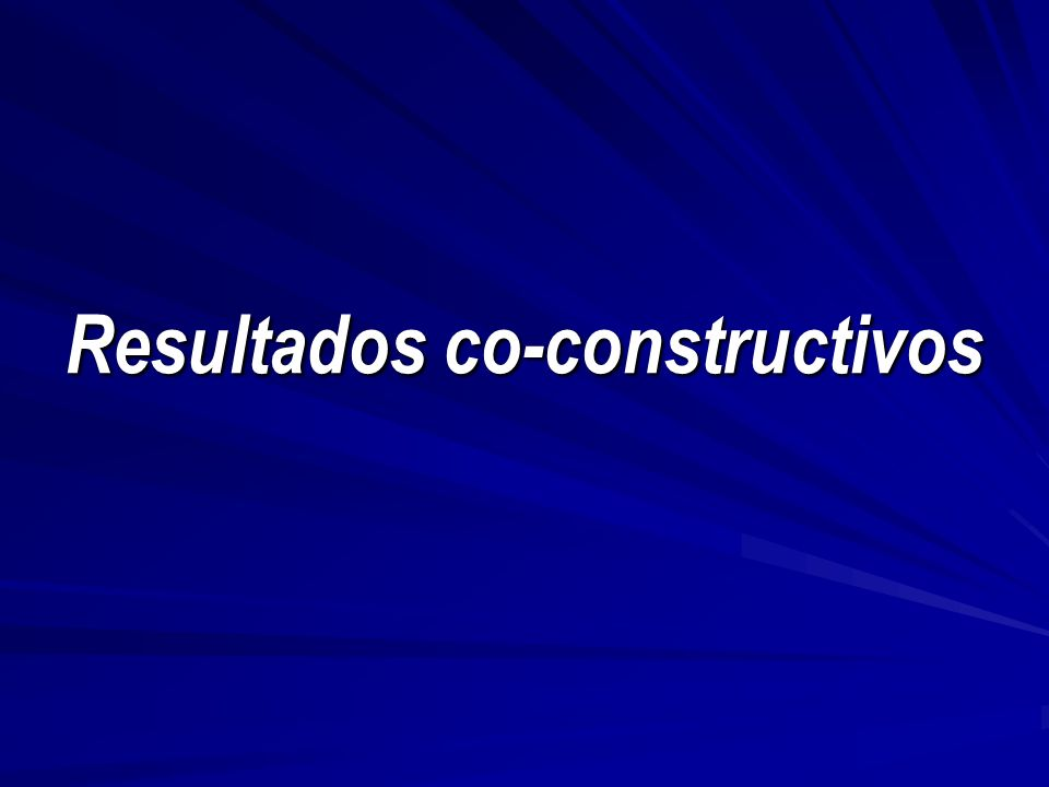 Resultados co-constructivos