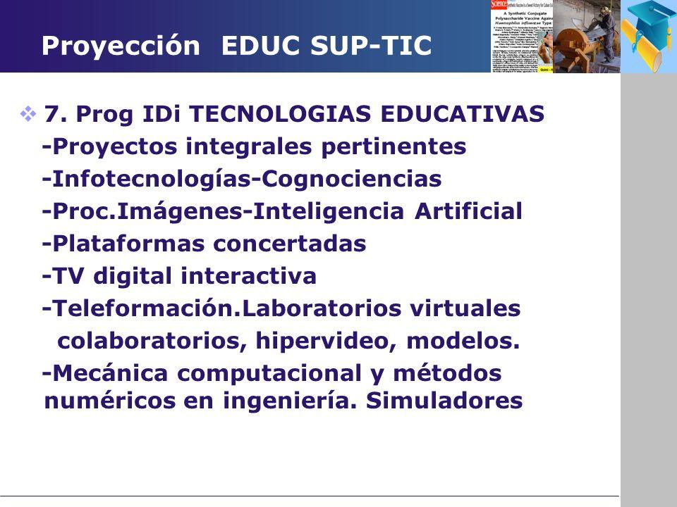 Proyección EDUC SUP-TIC 7.