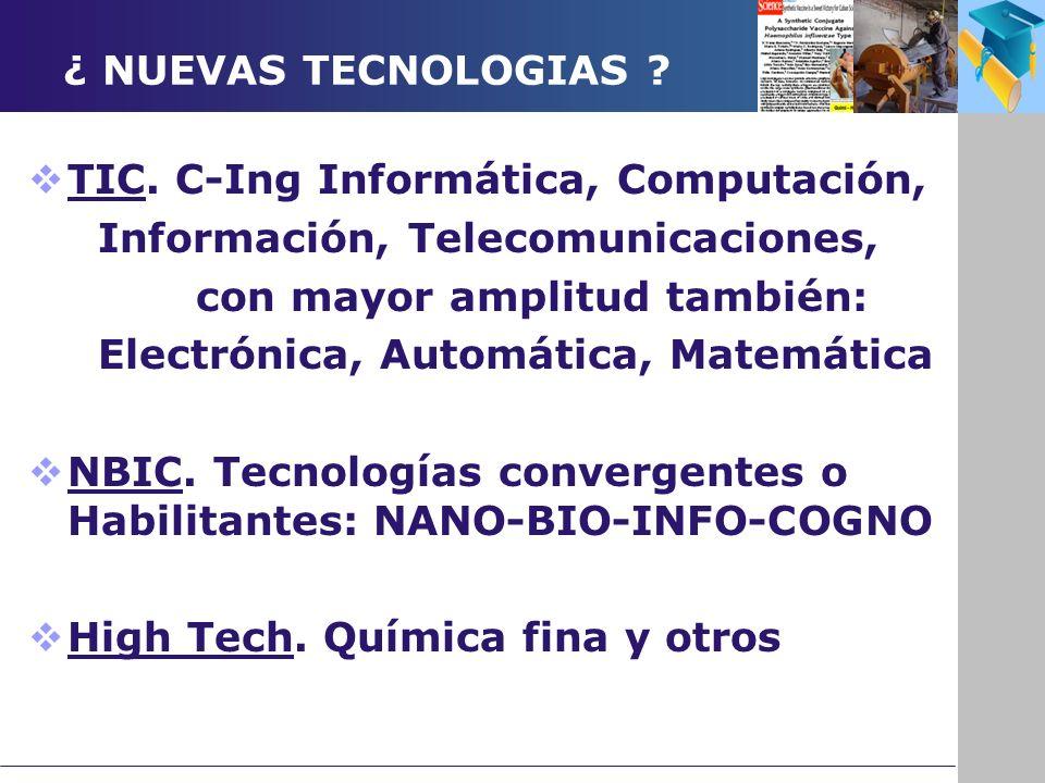 ¿ NUEVAS TECNOLOGIAS . TIC.