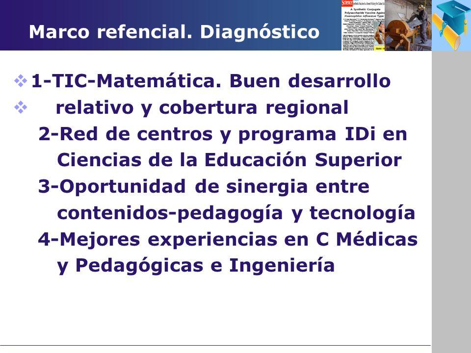 Marco refencial. Diagnóstico 1-TIC-Matemática.