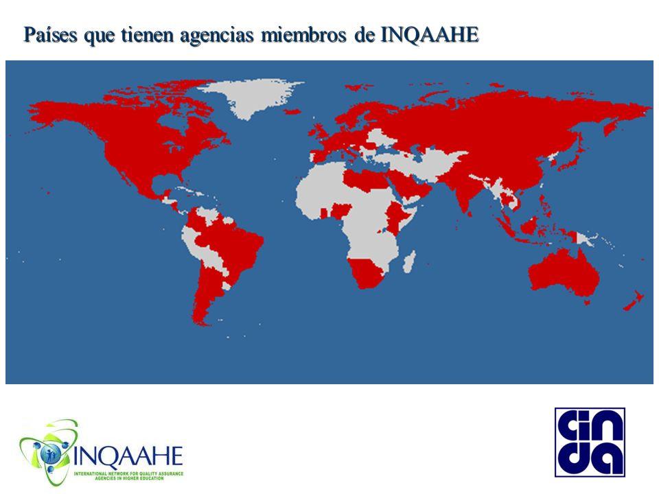 Países que tienen agencias miembros de INQAAHE