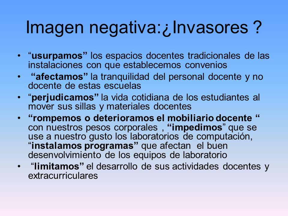 Imagen negativa:¿Invasores .