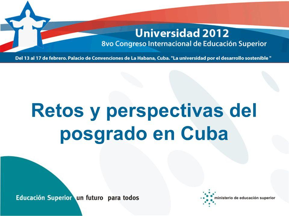 Retos y perspectivas del posgrado en Cuba