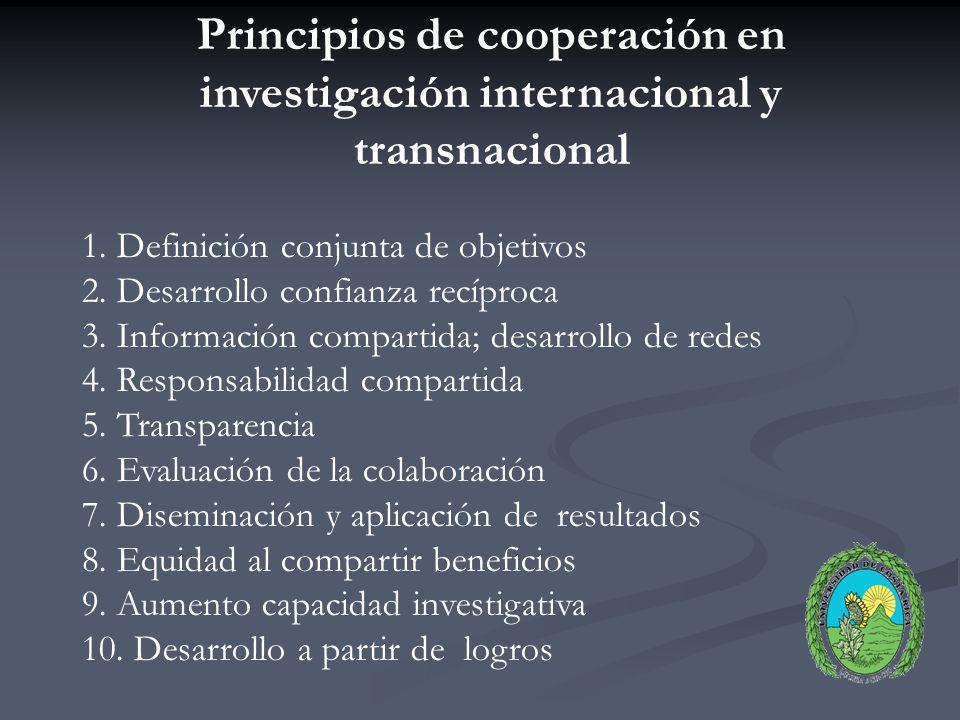 INVESTIGACIÓN INTERNACIONAL Investigación científica: orientación marcada internacionalización desarrollo nuevos conocimientos ámbito internacional