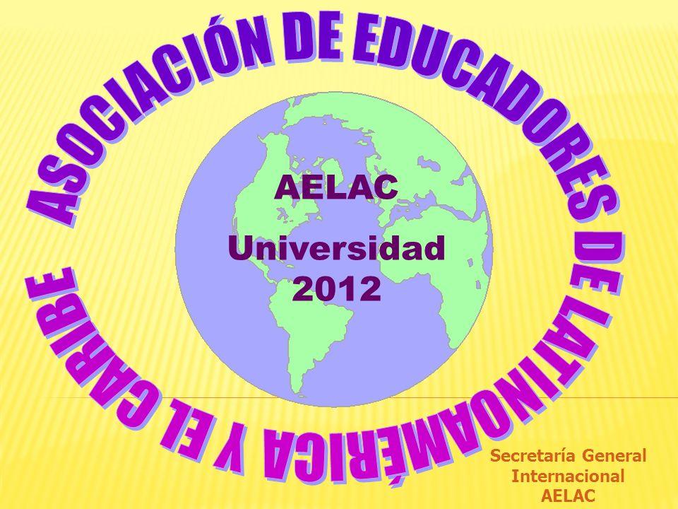 Secretaría General Internacional AELAC Universidad 2012