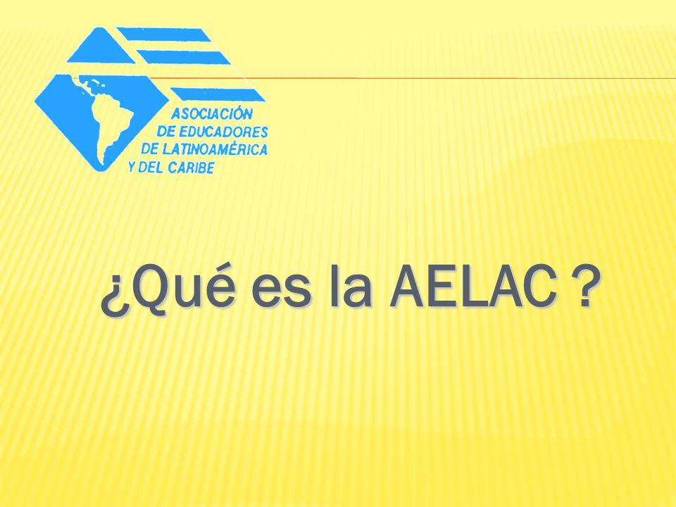 La AELAC es una Organización No Gubernamental (ONG), sin fines lucrativos que reúne a los educadores e instituciones de Latinoamérica y el Caribe, en el estudio y solución de los problemas de la educación y la cultura, que contribuya a desarrollar la identidad de nuestros pueblos.