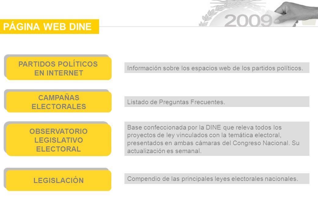 PARTIDOS POLÍTICOS EN INTERNET PARTIDOS POLÍTICOS EN INTERNET Información sobre los espacios web de los partidos políticos.
