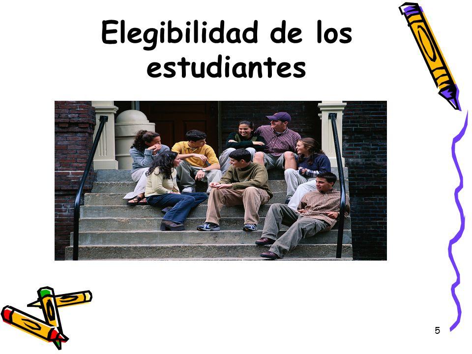 5 Elegibilidad de los estudiantes