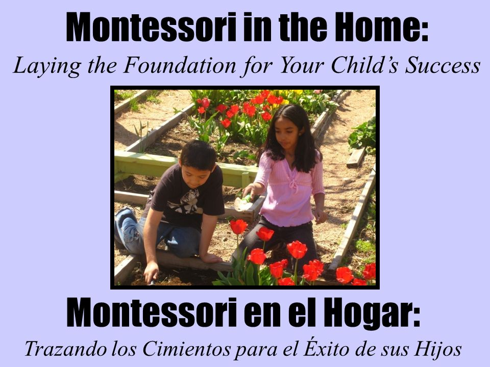Montessori in the Home: Laying the Foundation for Your Childs Success Montessori en el Hogar: Trazando los Cimientos para el Éxito de sus Hijos