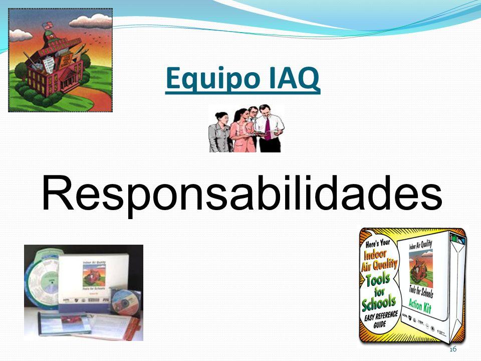 Equipo IAQ Responsabilidades 16