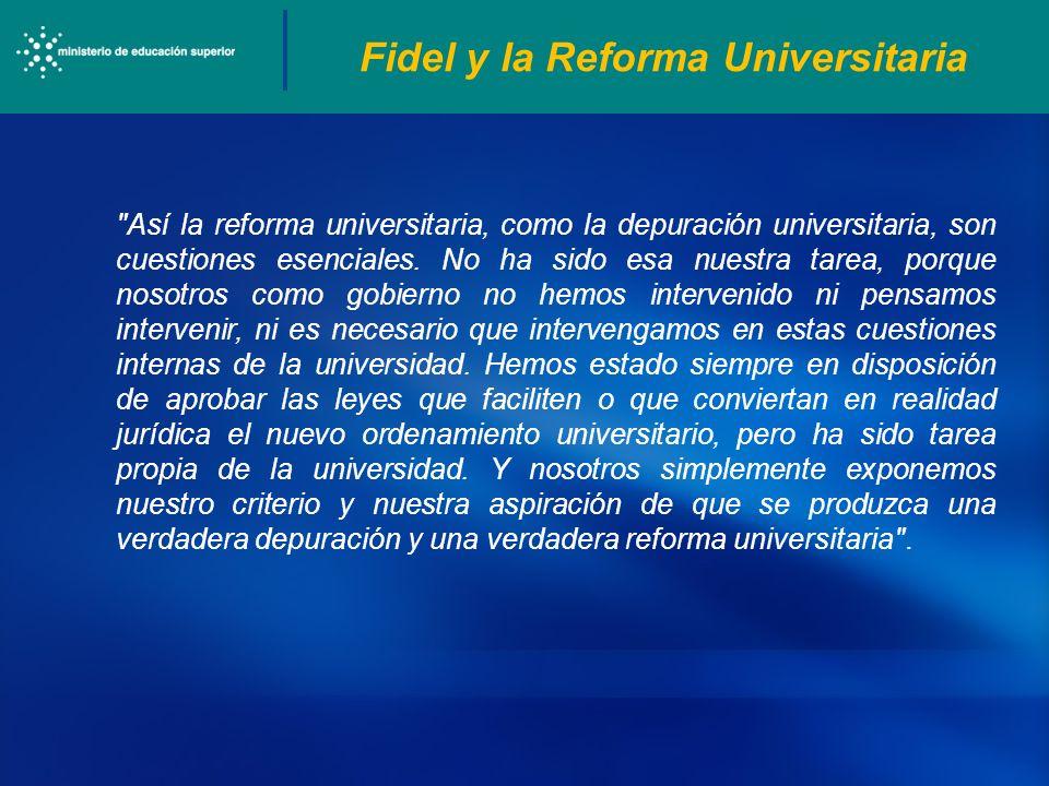 Fidel y la Reforma Universitaria