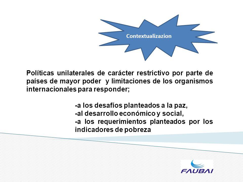 para asumir y superar sus realidades sociales Retos de la globalización desarrollos de las tecnologías de la comunicación y la información avances de la ciencia y la tecnología Realidad latinoamericana: -injusticia social -pobreza -desigualdad Reclaman de las universidades otra forma de concebir y de utilizar la producción de conocimiento científico