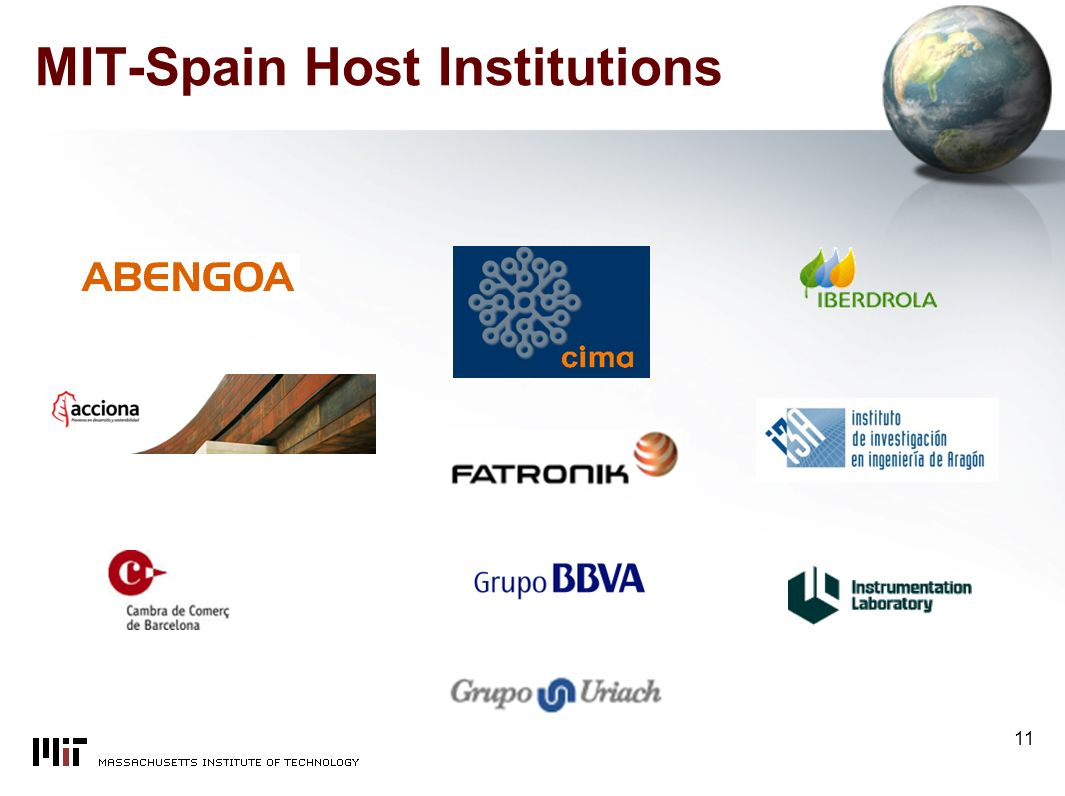 11 MIT-Spain Host Institutions