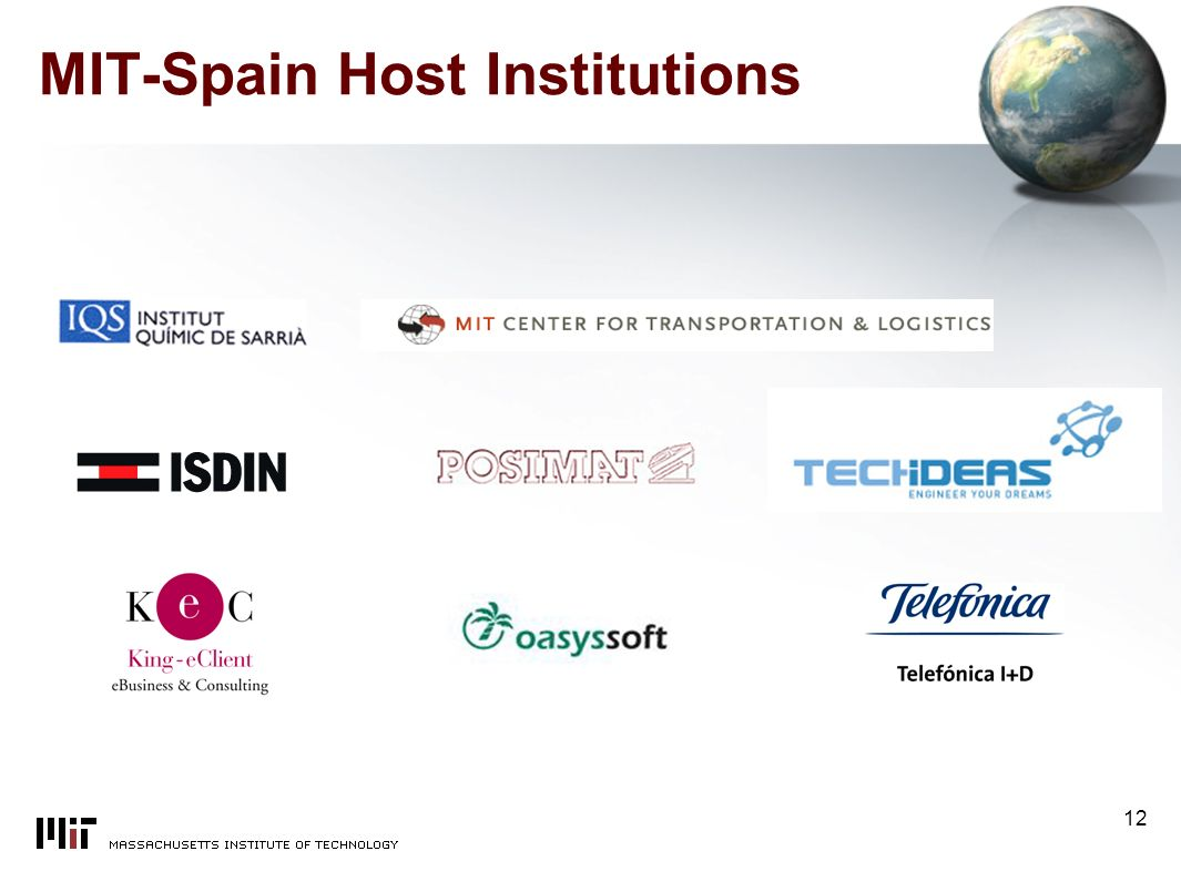 12 MIT-Spain Host Institutions