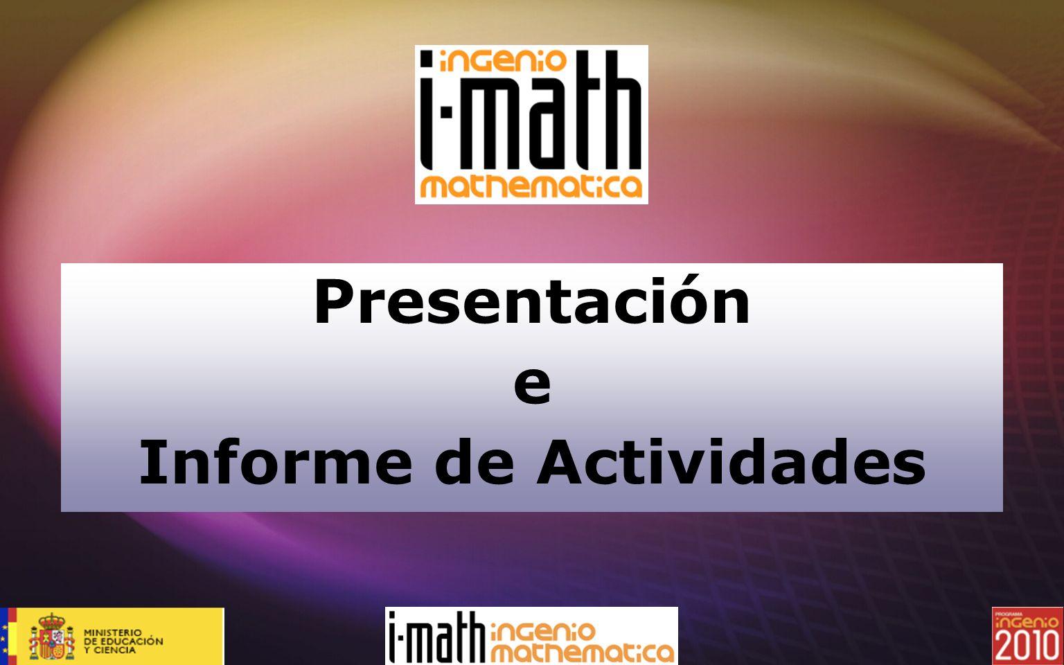 Presentación e Informe de Actividades