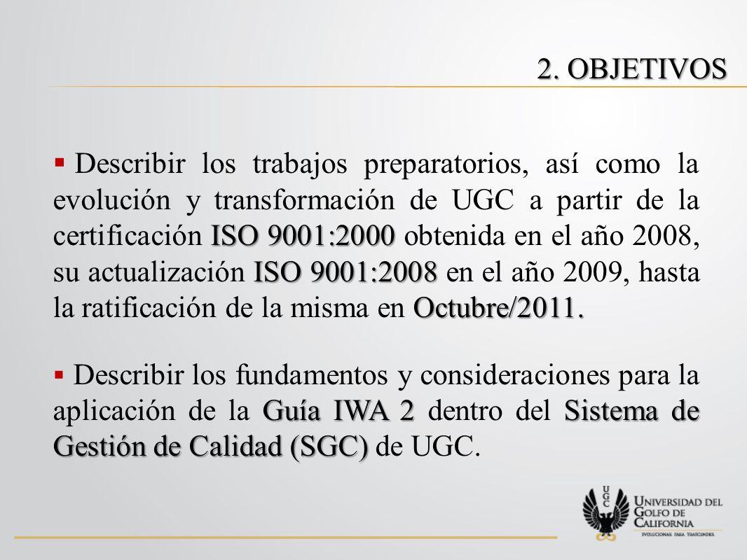 ISO 9001:2000 ISO 9001:2008 Octubre/2011.
