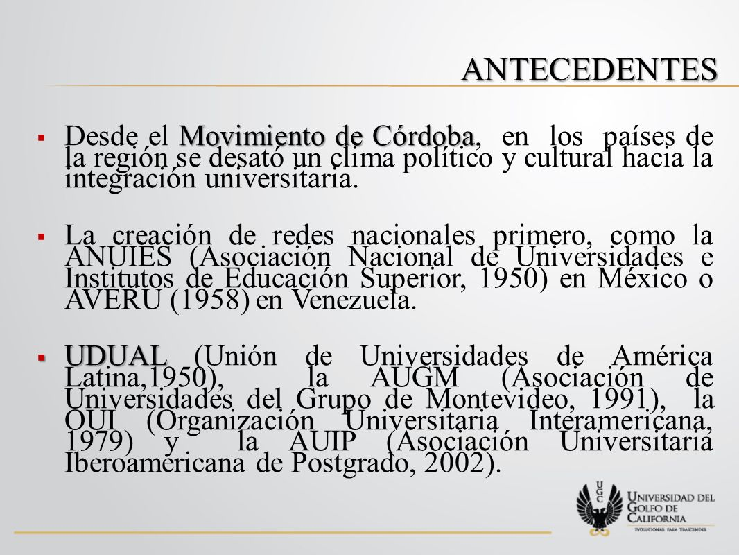 ANTECEDENTES UNIVERSIA UNIVERSIA, creada en el año 2000, y que en la actualidad agrupa a 1126 universidades de 18 países de Ibero América.