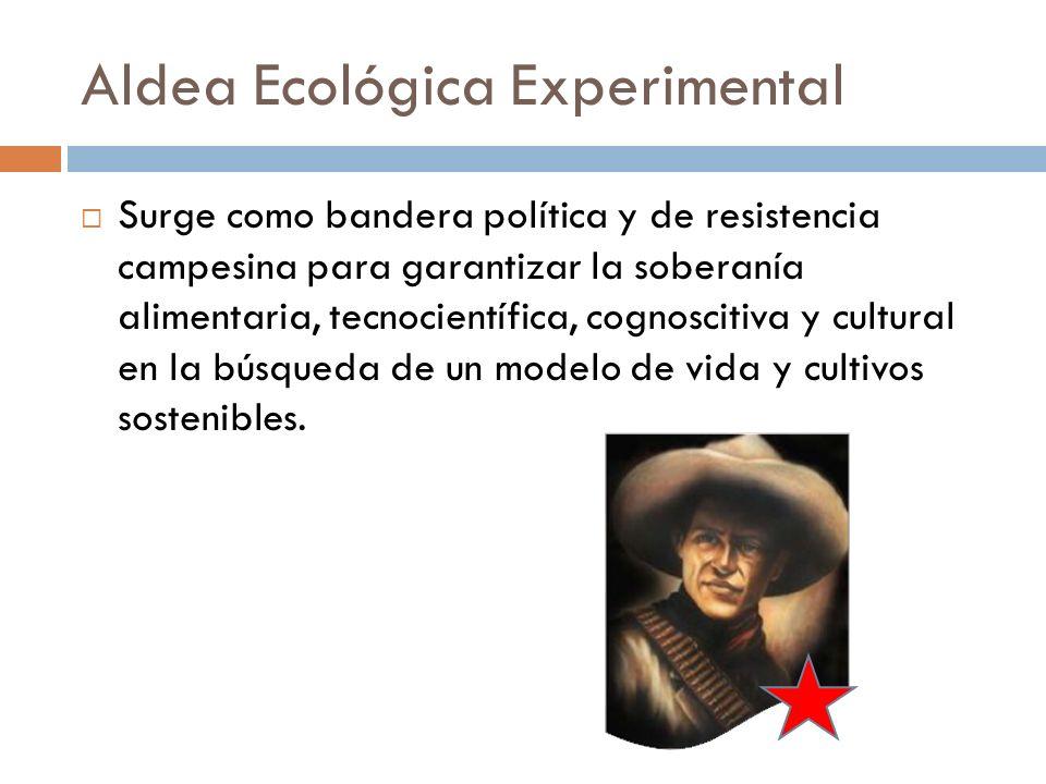 Aldea Ecológica Experimental Surge como bandera política y de resistencia campesina para garantizar la soberanía alimentaria, tecnocientífica, cognosc