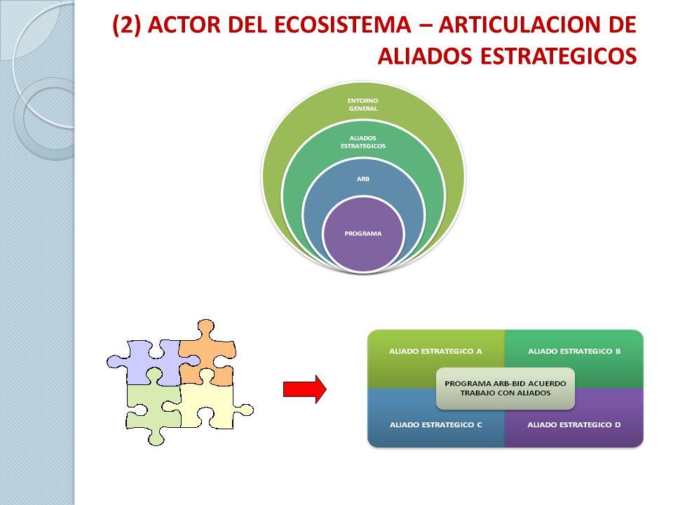 (2) ACTOR DEL ECOSISTEMA – ARTICULACION DE ALIADOS ESTRATEGICOS