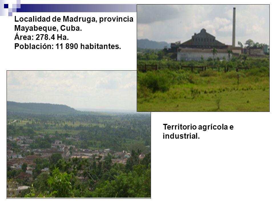 Localidad de Madruga, provincia Mayabeque, Cuba. Área: 278.4 Ha.