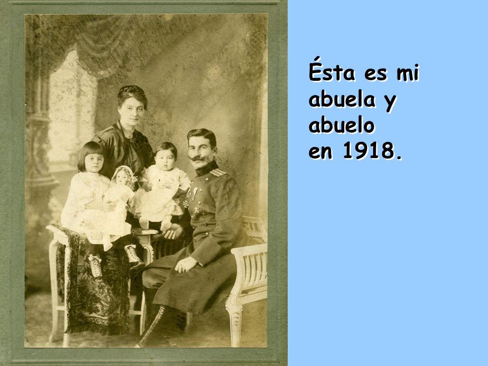 Ésta es mi abuela y abuelo en 1918. Ésta es mi abuela y abuelo en 1918.