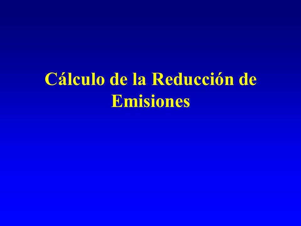 Cálculo de la Reducción de Emisiones