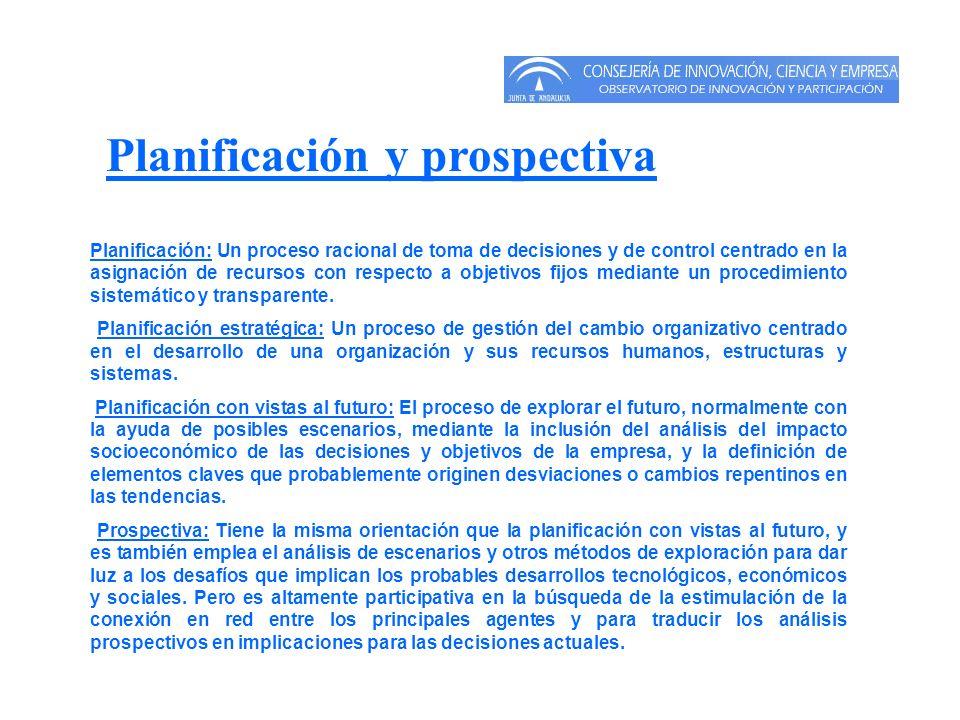 Planificación: Un proceso racional de toma de decisiones y de control centrado en la asignación de recursos con respecto a objetivos fijos mediante un