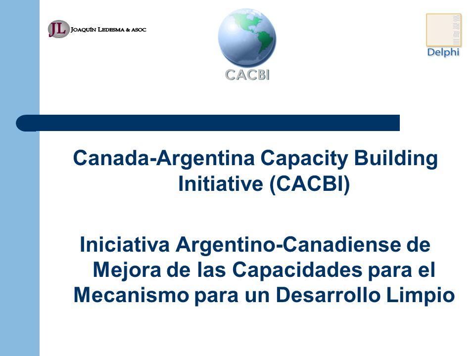 Canada-Argentina Capacity Building Initiative (CACBI) Iniciativa Argentino-Canadiense de Mejora de las Capacidades para el Mecanismo para un Desarrollo Limpio