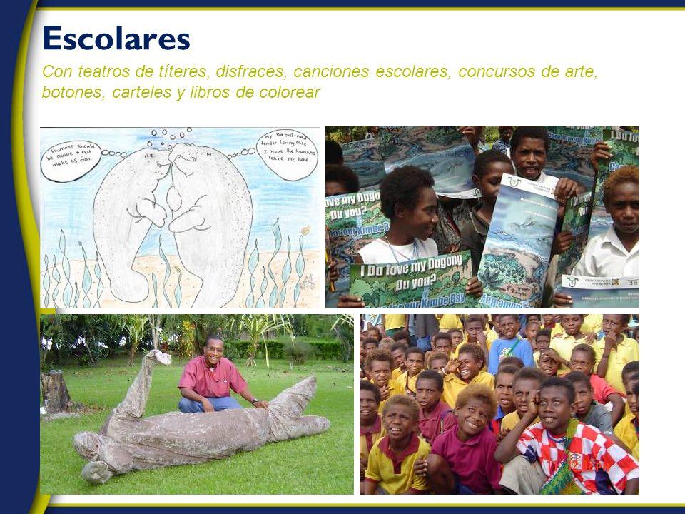 Escolares Con teatros de títeres, disfraces, canciones escolares, concursos de arte, botones, carteles y libros de colorear