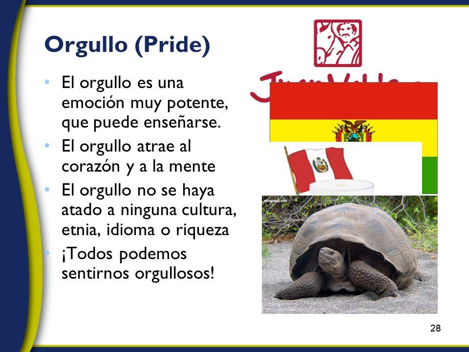28 Orgullo (Pride) El orgullo es una emoción muy potente, que puede enseñarse.