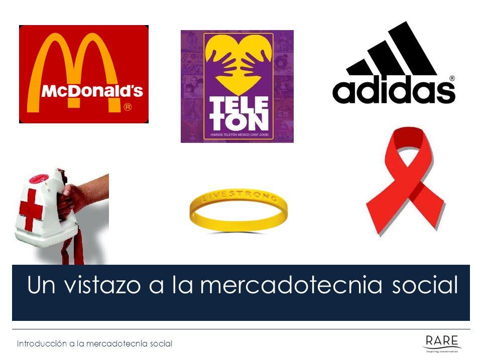 Introducción a la mercadotecnia social Un vistazo a la mercadotecnia social