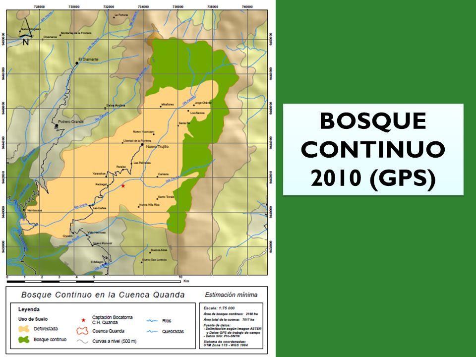 BOSQUE CONTINUO 2010 (GPS)