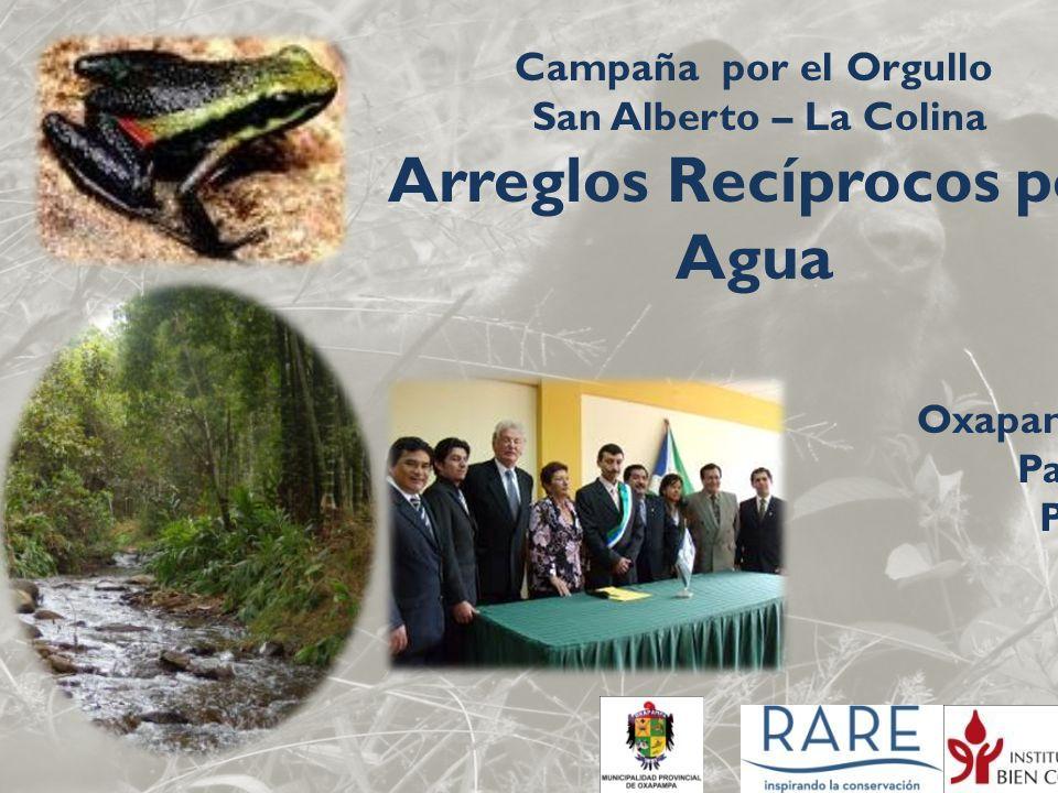 Campaña por el Orgullo San Alberto – La Colina Arreglos Recíprocos por Agua Oxapampa Pasco Perú