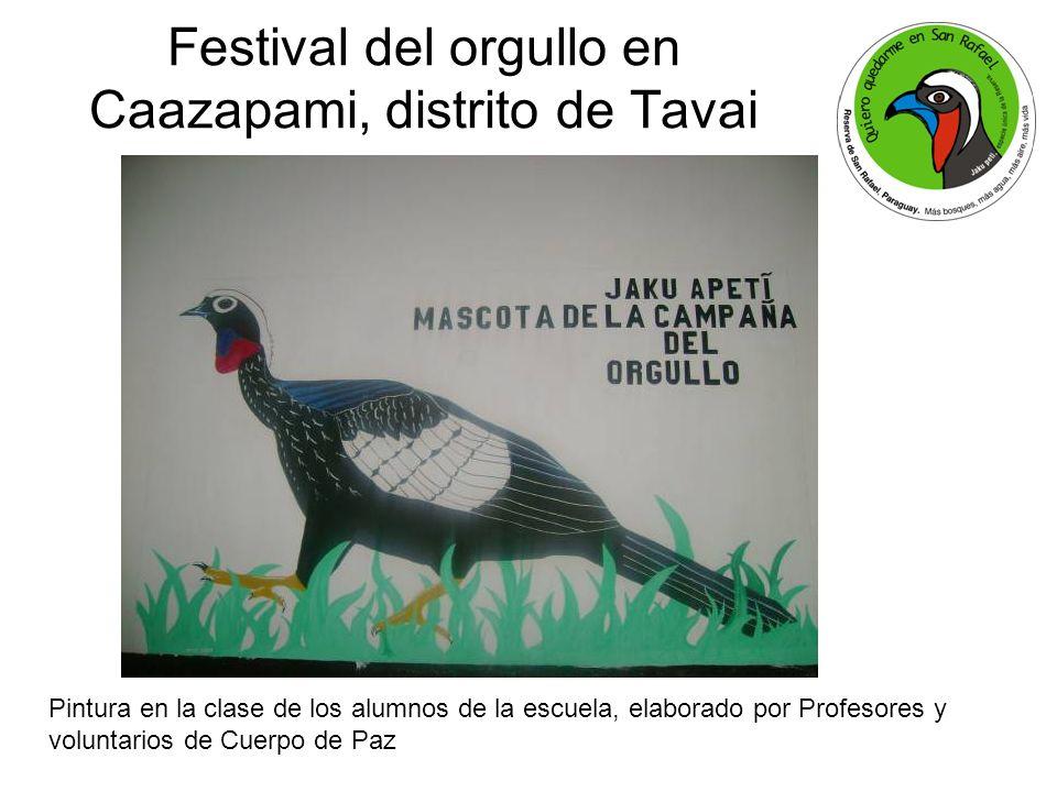 Festival del orgullo en Caazapami, distrito de Tavai Pintura en la clase de los alumnos de la escuela, elaborado por Profesores y voluntarios de Cuerpo de Paz