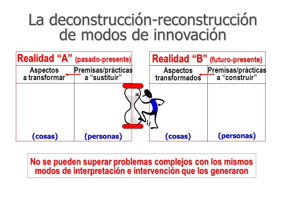 No se pueden superar problemas complejos con los mismos modos de interpretación e intervención que los generaron La deconstrucción-reconstrucción de m