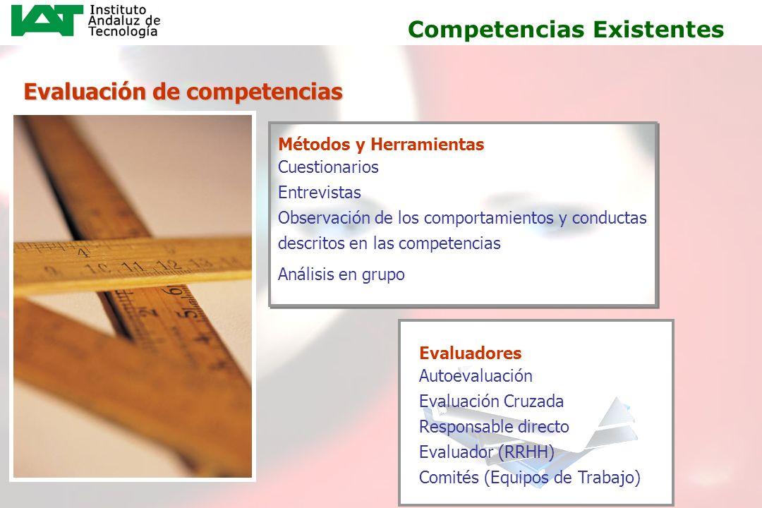 17 Evaluación de competencias Métodos y Herramientas Cuestionarios Entrevistas Observación de los comportamientos y conductas descritos en las compete