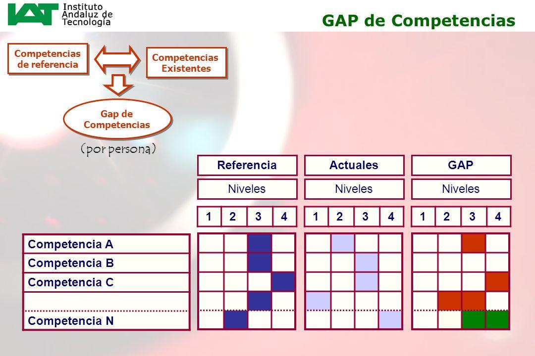 18 Competencias de referencia Competencias de referencia Competencias Existentes Competencias Existentes Gap de Competencias Competencia A Competencia