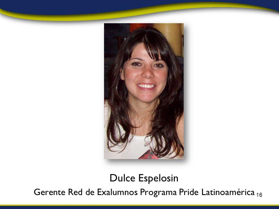 Dulce Espelosin Gerente Red de Exalumnos Programa Pride Latinoamérica 16