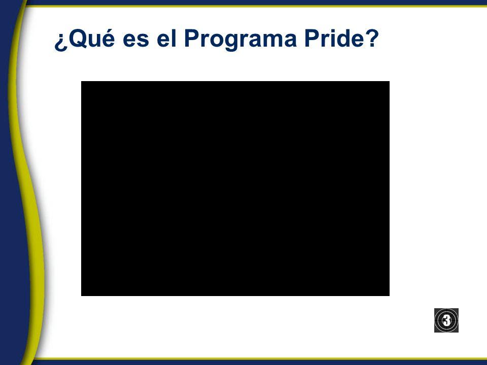 ¿Qué es el Programa Pride?