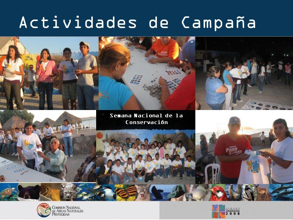 Actividades de Campaña Semana Nacional de la Conservación