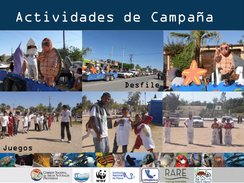 Actividades de Campaña Desfile Juegos