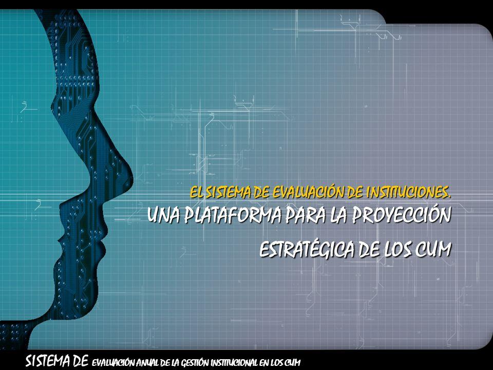 EL SISTEMA DE EVALUACIÓN DE INSTITUCIONES.