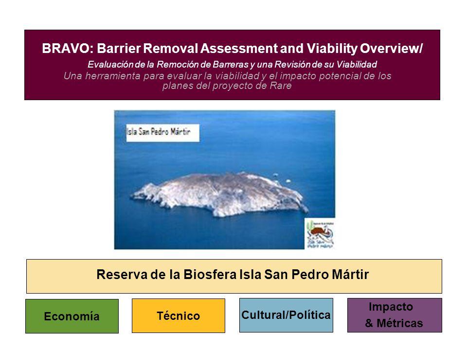 Una herramienta para evaluar la viabilidad y el impacto potencial de los planes del proyecto de Rare BRAVO: Barrier Removal Assessment and Viability O