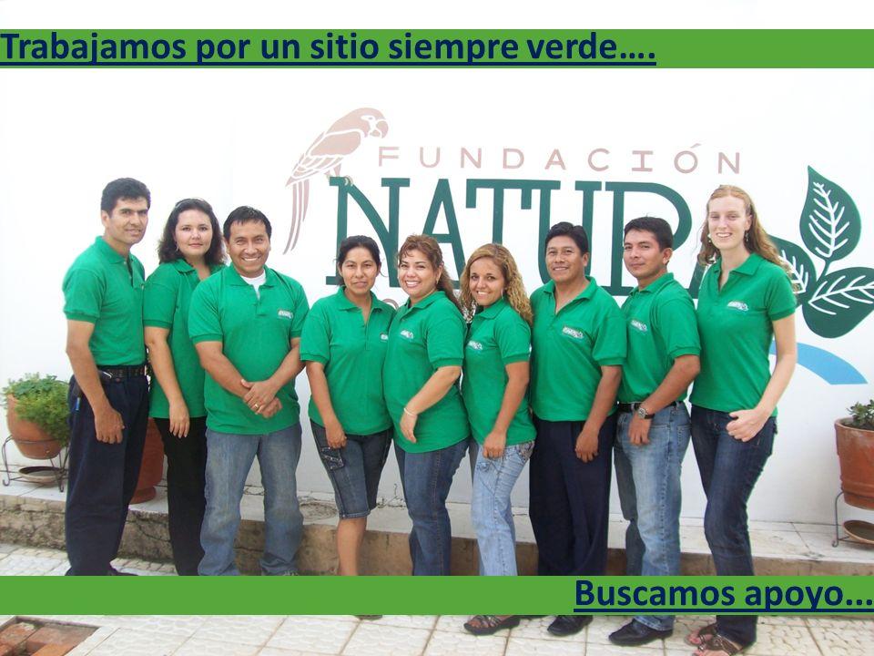 Buscamos apoyo... Trabajamos por un sitio siempre verde….